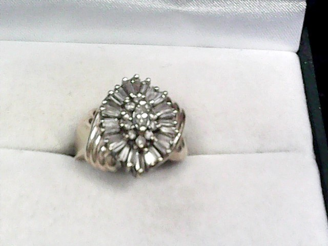 Lady's Diamond Cluster Ring 34 Diamonds 1.24 Carat T.W. 14K Yellow Gold 5.7dwt