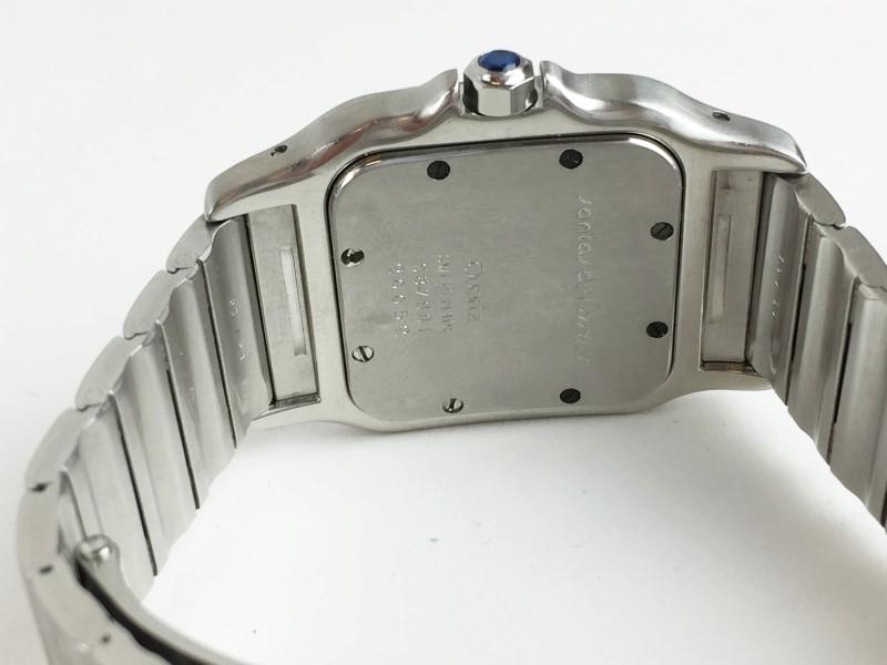 CARTIER SANTOS DE CARTIER DIAMOND STAINLESS STEEL 987901 WATCH