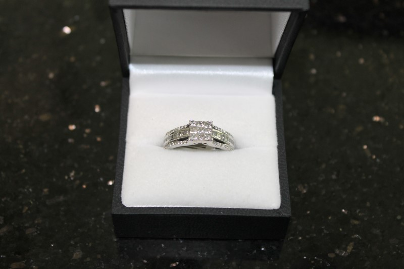 Princess Cut Diamond 14K White Gold Engagement Ring WG