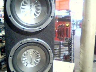"PIONEER ELECTRONICS Car Speakers/Speaker System 2X12"" SUBS IN BOX"