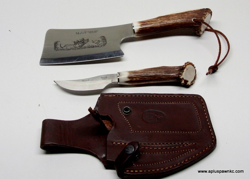 MUELA CROWN STAG HUNTERS KNIFE SET