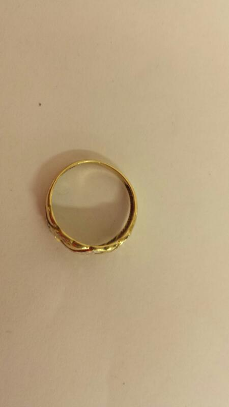 Lds 10K-Two Tone Gold Fashion Ring