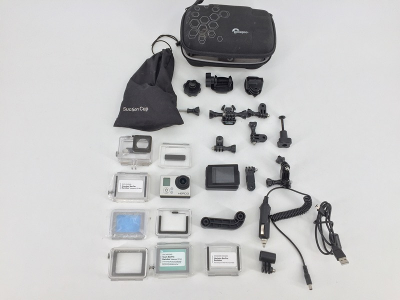 GOPRO HERO 3 SILVER CHDHN-301 HD ACTION CAMERA BUNDLE
