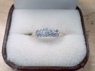 Lady's Diamond Fashion Ring 14 Diamonds .42 Carat T.W. 10K Yellow Gold 1.7g