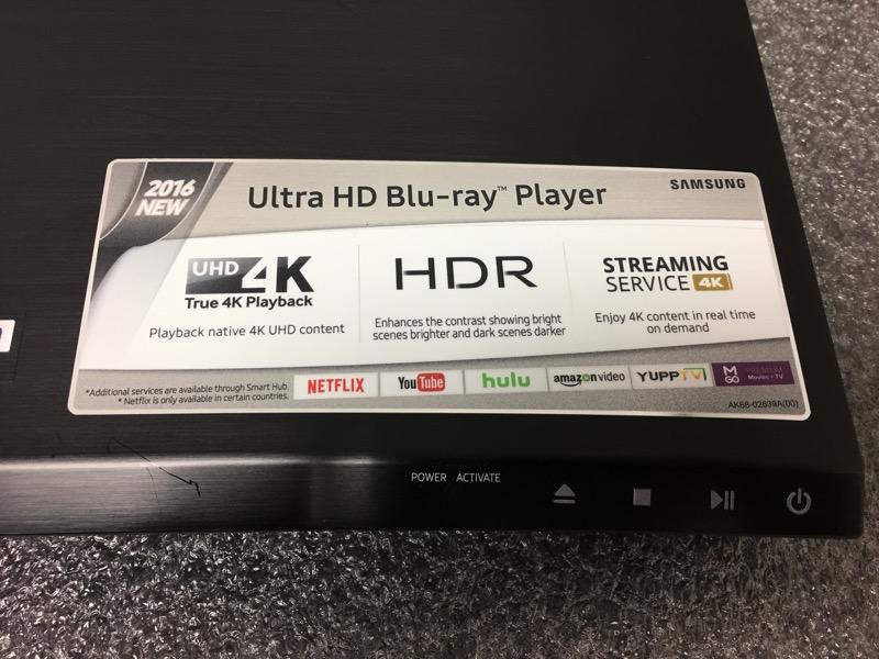 SAMSUNG UBD-K8500 2016 4K UHD HDR SMART BLURAY PLAYER ULTRA HD