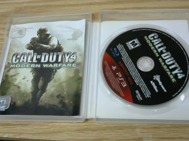 SONY Sony PlayStation 3 Game CALL OF DUTY 4 MODERN WARFARE - PS3