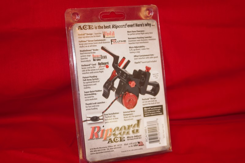 Ripcord ACE Micro Adjust Fall Away Compound Archery Arrow Rest LH Black