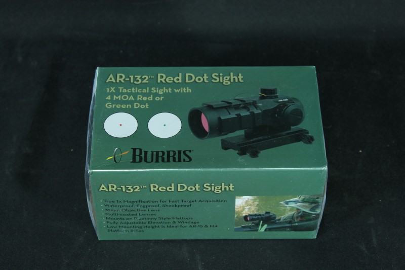 Burris AR-132 Red Dot Sight 1x Tactical Sight with 4 MOA Red or Green Dot