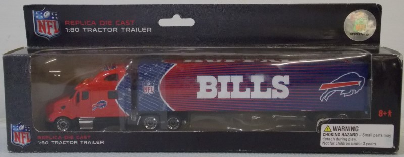 BUFFALO BILLS DIECAST TRACTOR-TRAILERS, SET OF 5