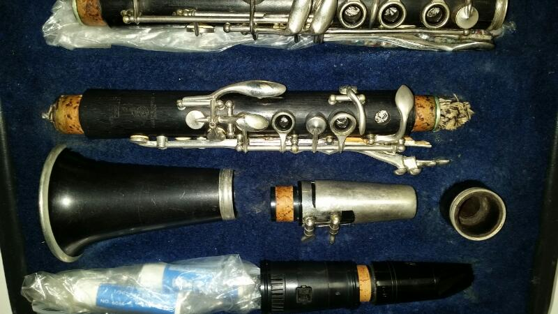 "Vintage 1952 Boosey & Hawkes Wooden Clarinet ""The Edgware"" Made in England"