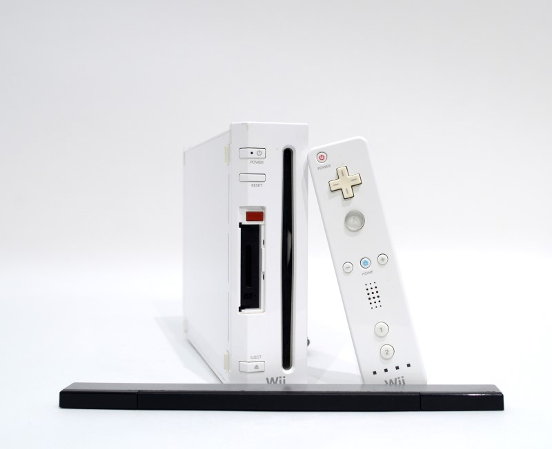 Nintendo Wii RVL-001 Video Game Console Bundle Missing Flaps>