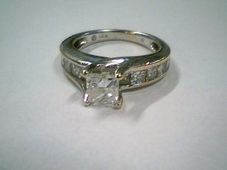 Lady's Diamond Engagement Ring 10 Diamonds 1.89 Carat T.W. 14K White Gold 4.51g