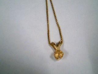 "18"" Yellow Stone Stone Necklace 14K Yellow Gold 2.8g"