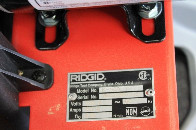 RIDGID K-400-T2 DRUM MACHINE