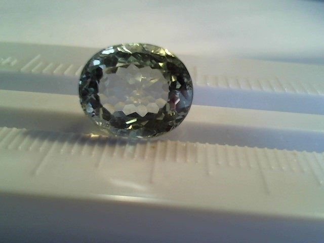 Amethyst (prasiolite) 5.60ct lite green