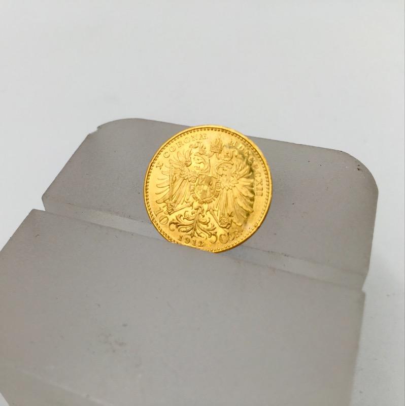 1912 AUSTRIA .900 GOLD 10 CORONA WORLD COIN