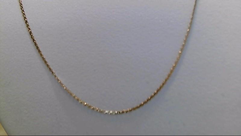 Lady's 14k yellow gold 18 inch flat herringbone chain