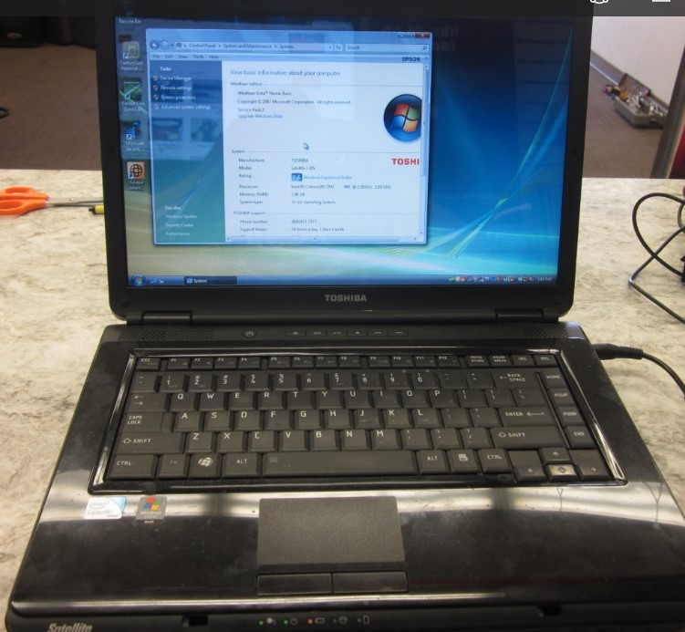 TOSHIBA SATELLITE L305-S5955, WINDOWS VISTA, INTEL CELERON 2.19GHZ, 2GB , 160GB