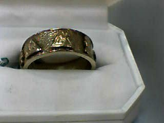 Gent's Gold Wedding Band 10K Yellow Gold 6.6dwt Size:11.3