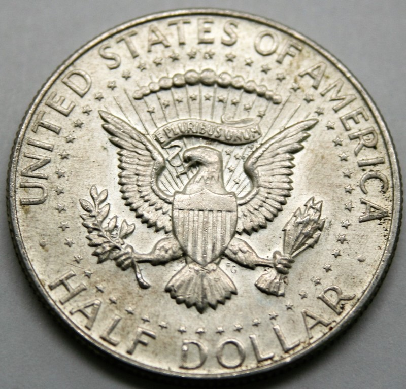 UNITED STATES SILVER 1968-D KENNEDY - 1/2 DOLLAR