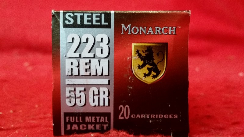 Monarch 5.56mm 55gr FMJ STEEL