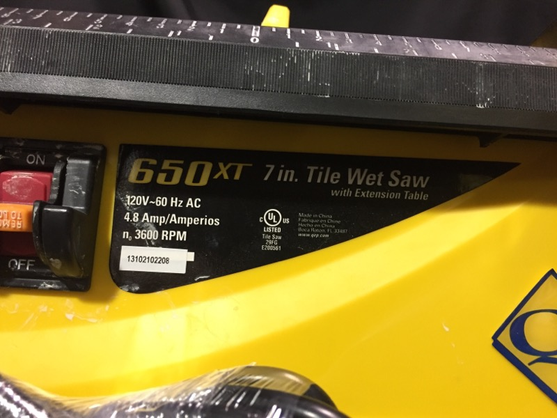 QEP Tile Saw 650XT