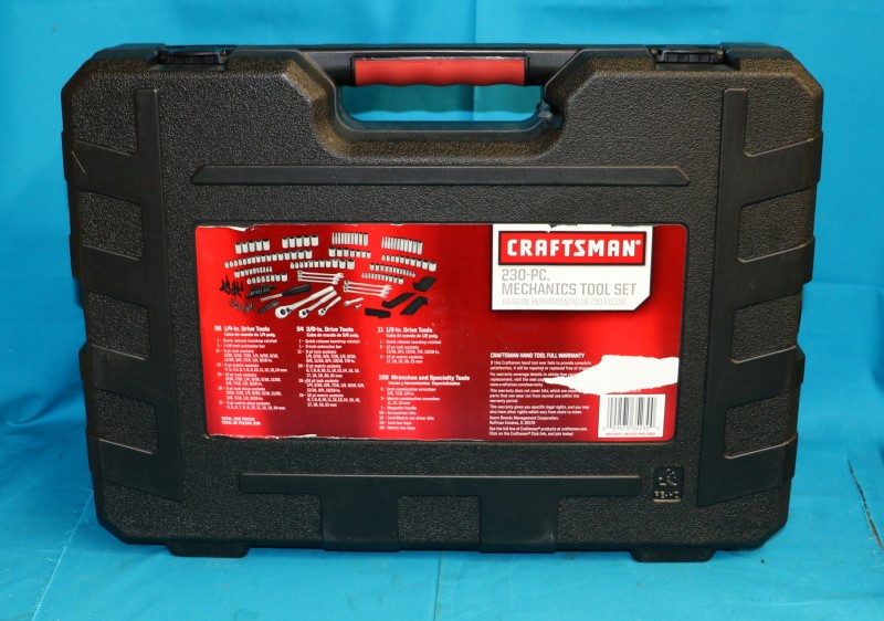 CRAFTSMAN 230-PIECE MECHANICS TOOL SET METRIC & SAE