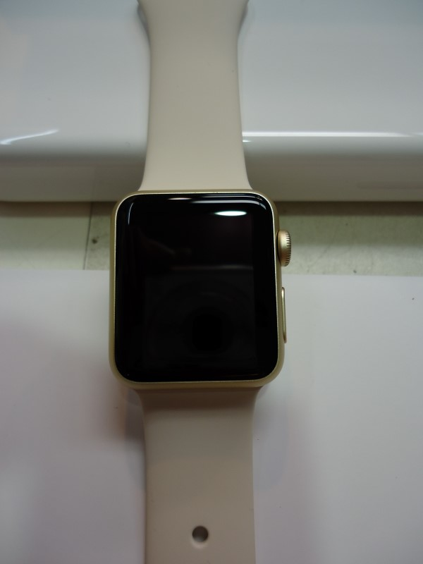 Apple MLCH2LL/A Apple Watch Sport 38mm Gold Colored Case w/ Off White Band