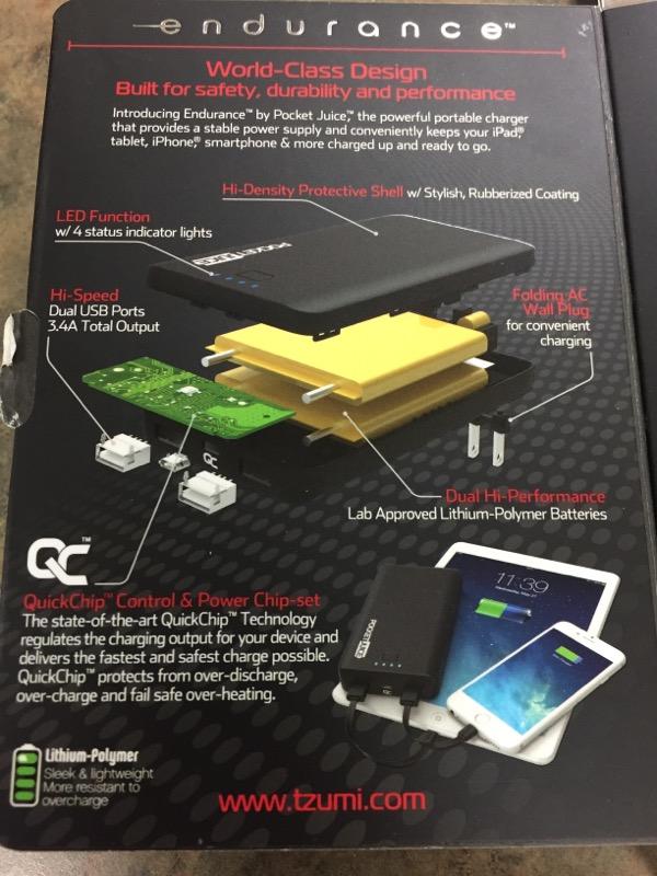TZUMI Cell Phone Accessory POCKET JUICE