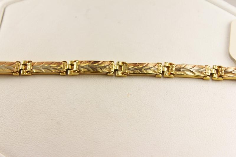 Gold Bracelet 14K 2 Tone Gold 10.8g