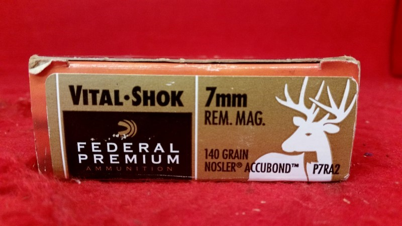 Federal 7mm Mag 140gr Nosler Accubond Vital-SHOK / 20rd Box