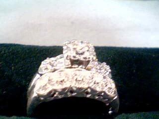 Lady's Diamond Wedding Set 8 Diamonds .50 Carat T.W. 14K White Gold 3.3g