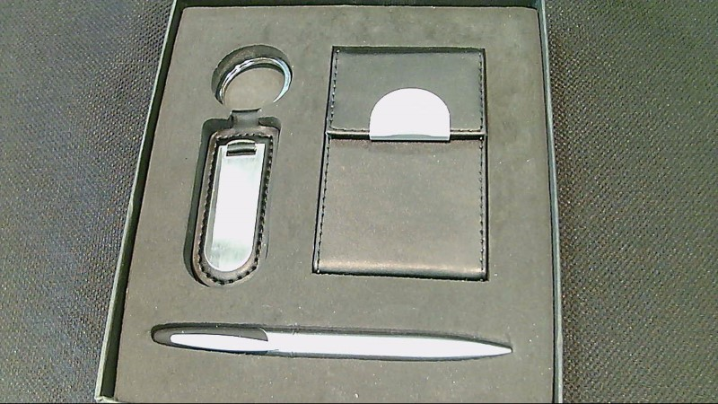 Business Card Holder Keyring and Matching Pen Set