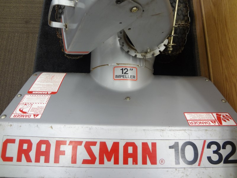 "CRAFTSMAN 536.887000 GRAY 10HP 32"" 8-SPEED 2-STAGE 12"" IMPELLER SNOW BLOWER"