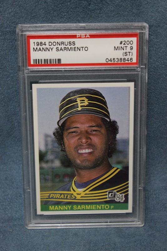Manny Sarmiento 1984 Donruss Pittsburgh Pirates #200 PSA MINT 9