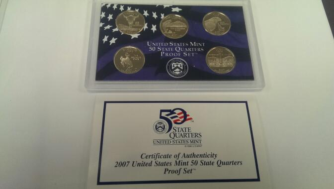 UNITED STATES 2007 QUARTER PROOF SET