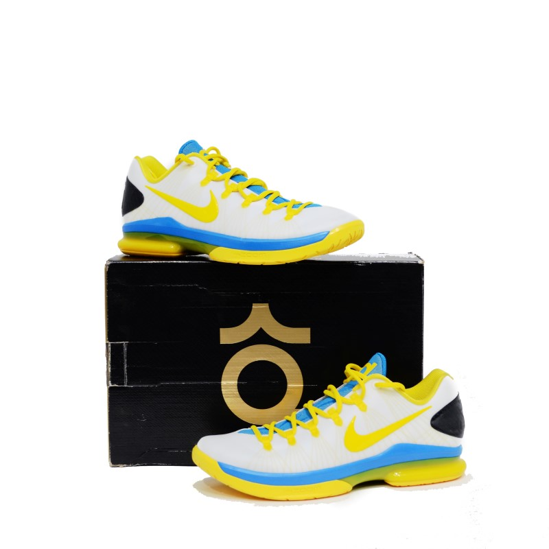 NIKE KD V ELITE GSW MEN'S SHOES SZ 10.5 585386 100 OKC HOME >