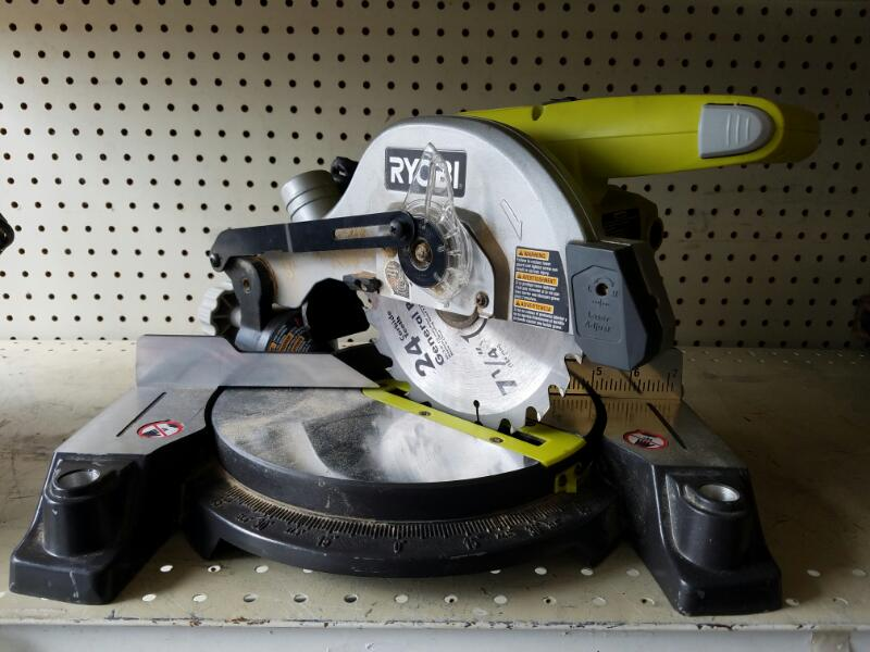 Ryobi TS1143L 9 Amp 7-1/4 in. Compound Miter Saw with Laser