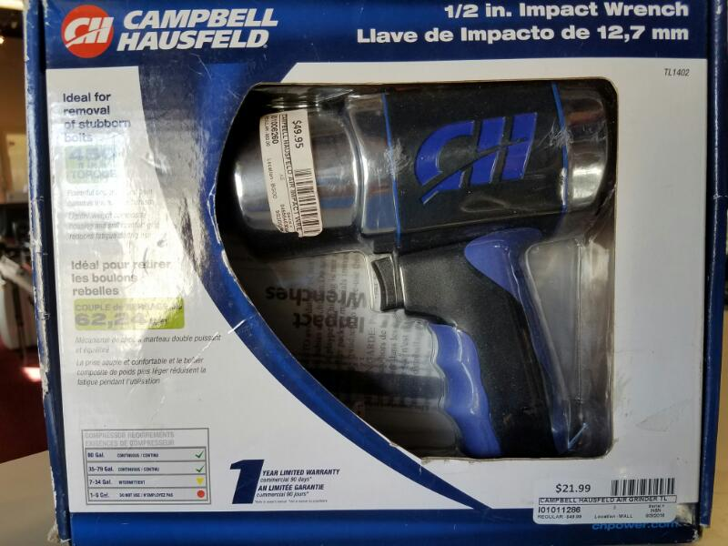 CAMPBELL HAUSFELD Air Impact Wrench TL140299