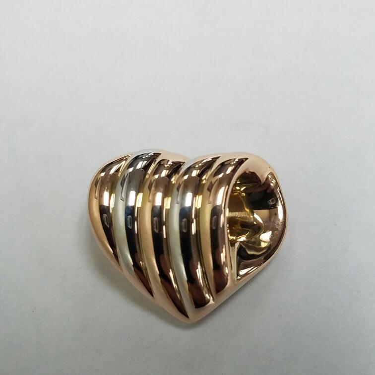 Gold Charm 14K 2 Tone Gold 1.12dwt