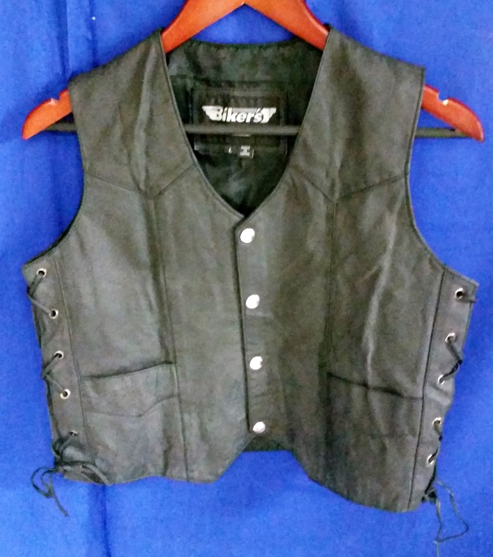 BIKERS CLUB HARLEY DAVIDSON LEATHER VEST - WOMEN'S