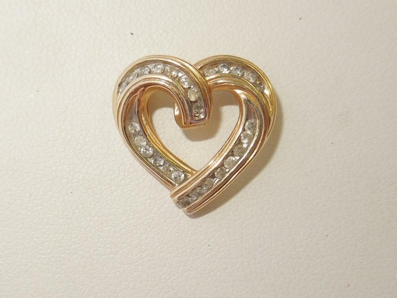 Gold-Multi-Diamond Pendant 27 Diamonds .27 Carat T.W. 14K Yellow Gold 3g