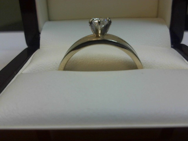 Lady's Diamond Solitaire Ring .35 CT. 14K Yellow Gold 3.4dwt