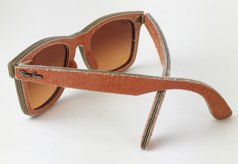 RAY-BAN ORANGE DENIM WAYFARER