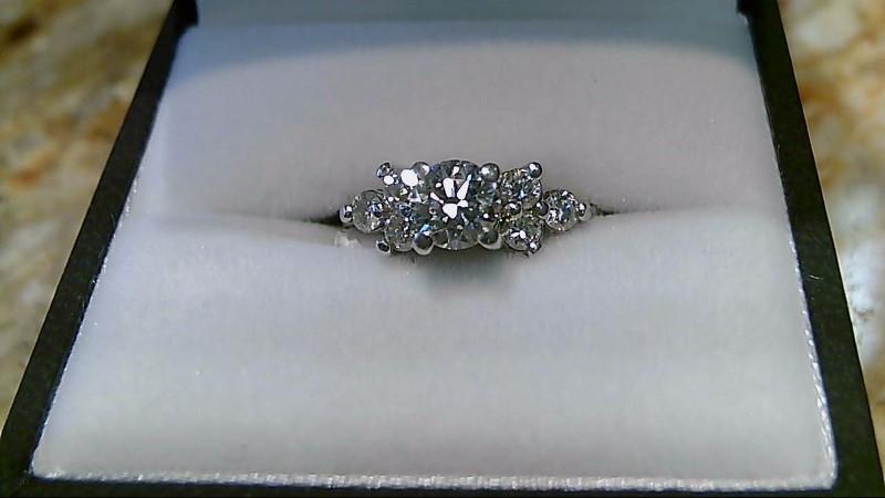Lady's Platinum-Diamond Wedding Band 7 Diamonds 1.10 Carat T.W. 950 Platinum