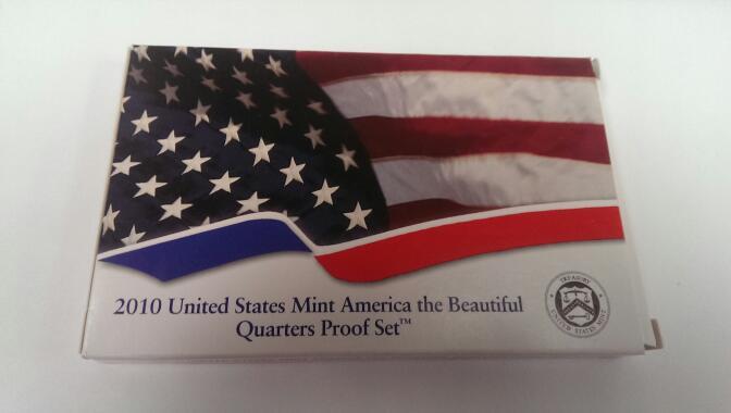 UNITED STATES 2010 AMERICAN THE BEAUTIFUL QUARTER PROOF SET