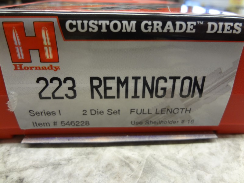 HORNADY 546228 CUSTOM GRADE 2-DIE SET 223 REMINGTON