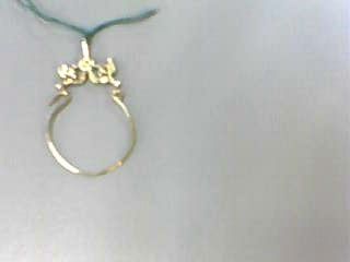 Gold Pendant 14K Yellow Gold 0.7dwt
