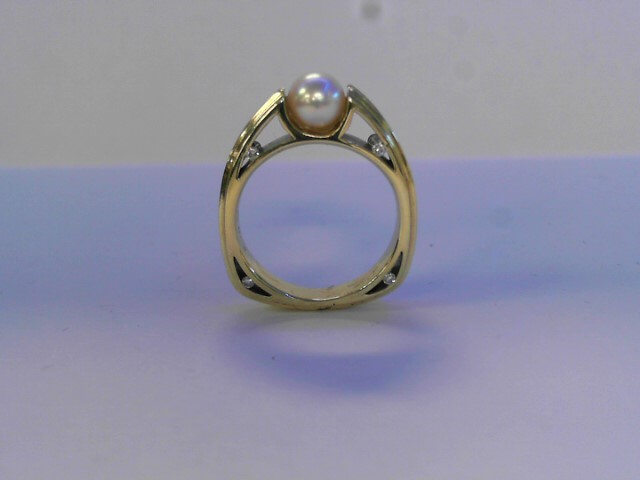 Lady's Gold Ring 18K Yellow Gold 4.4dwt