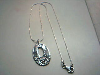 Synthetic Cubic Zirconia Stone Necklace 925 Silver 7.5g